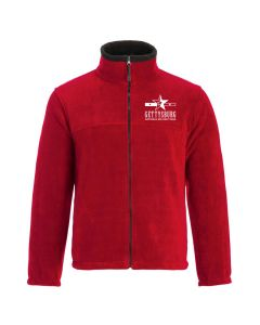 Ladies Red Gettysburg Fleece Jacket