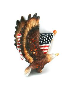 Patriotic Eagle with American Flag Ornament
