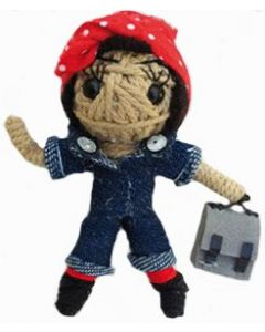 Rosie the Riveter String Doll